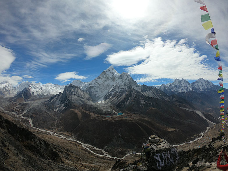 View Of Everest From Base Camp Trek