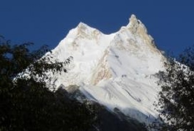 Closer View of Eighth Highest Peak | Manaslu Base Camp Trekking